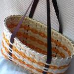 Large Handwoven Tote Basket..